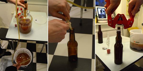 Stikke om, tappe og korke øl